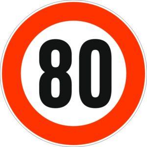 Geburtstagsschild 80